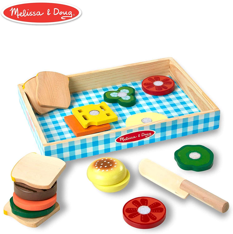 Melissa & Doug Wooden Sandwich Making Play Set Pretend Play £9.40 prime / £13.89 nonprime at Amazon