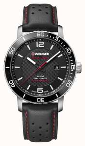 Wenger Roadster Black Night Men's Black Leather Strap Watch - £61.60 With Code @ H Samuel
