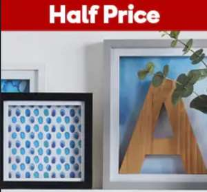 50% off shadow box frames at Hobbycraft - from £2 + £4.50 delivery