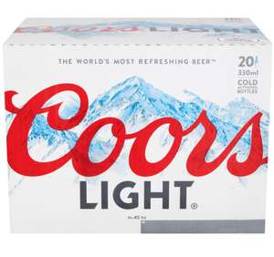 20 x 330ml coors light £7 Asda portsmouth