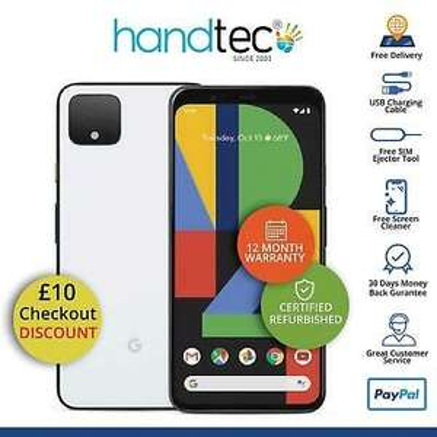 Google Pixel 4 64GB Unlocked Android Smartphone, Clearly White - Grade B Good - £178.99 @ Handtec eBay