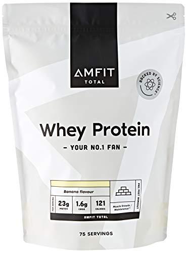 Amfit Nutrition (Amazon Brand) Whey Protein Powder 2.27kg Banana £16.54 (+£4.49 NonPrime) or Vanilla £20.73 + Subscribe & Save @ Amazon