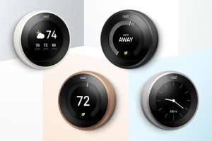 Google Nest Learning Thermostat, 3rd Generation, (Copper/ White/ Black/ Steel) Colours - £153.29 Delivered @ Amazon