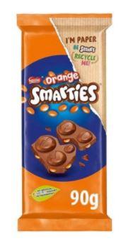 Smarties Orange Chocolate 90g Bars are 59p @ Farmfoods