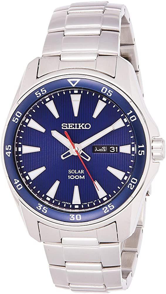 Seiko Men's Analogue Quartz Solar Watch With Stainless Steel Bracelet - £79.20 @ Amazon