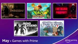 Prime Gaming May : Yoku's Island Express | A Blind Legend | Beholder & More