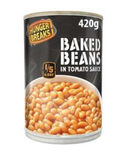 Hunger Breaks Baked Beans 420g Tins are 29p @ Farmfoods