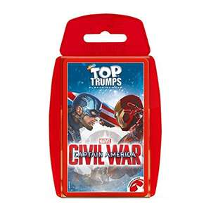 Captain America: Civil War Top Trumps Card Game - £2.97 Prime (+£4.49 Non-Prime) Sold by Champion Toys and Fulfilled by Amazon