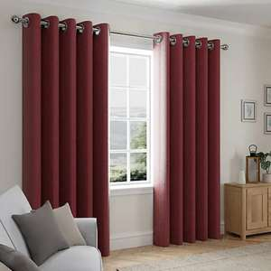 Cloudmont Chenille Merlot Thermal Eyelet Curtains from £6.25 (Free collection / £3.95 Delivery) @ Dunelm