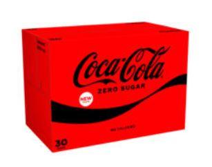 Coca-Cola Zero Sugar Cans 30 pack £8.50 at Asda