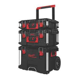 Milwaukee Packout Storage System Set 3 Pcs £199.99 delivered at Screwfix
