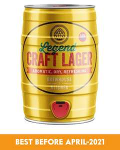 5 Litre Legend Craft Lager Keg BBE April 2021 £15.49 delivered @ Bottleclub