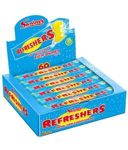 Swizzels Original Lemon Refreshers Bar x 60 £5.95 (+£4.49 Non Prime) @ Sold by Dadybros and Fulfilled by Amazon