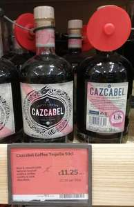 Cazcabel Coffee Tequila Liqueur £11.25 (also Sipsmith Sloe Gin @ £15) in-store at Sainsbury's Upton, Wirral