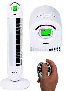 """Mylek 34"""" Tower fan with remote, 6 speeds and Ioniser £34.95 Sold by Direct Sales and Fulfilled by Amazon"""
