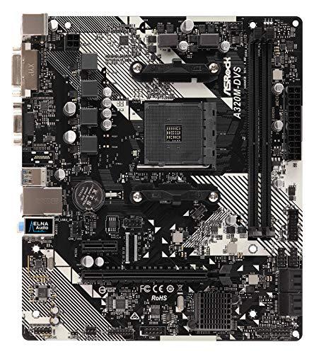 ASRock A320M-DVS R4.0 Micro ATX AM4 Motherboard £33.19 at Amazon