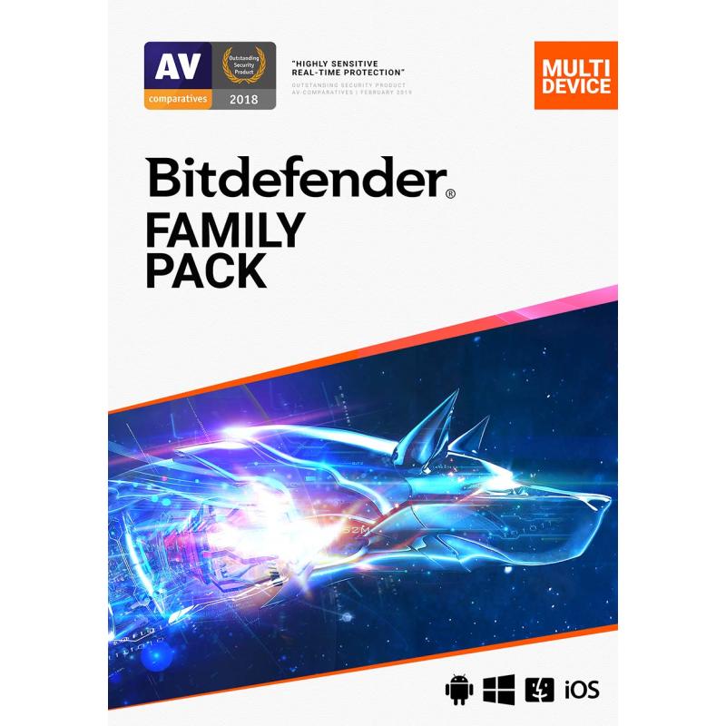 Bitdefender Family Pack 2021 [15-Device, 2-YR] , £29.99 via PC Pro Magazine