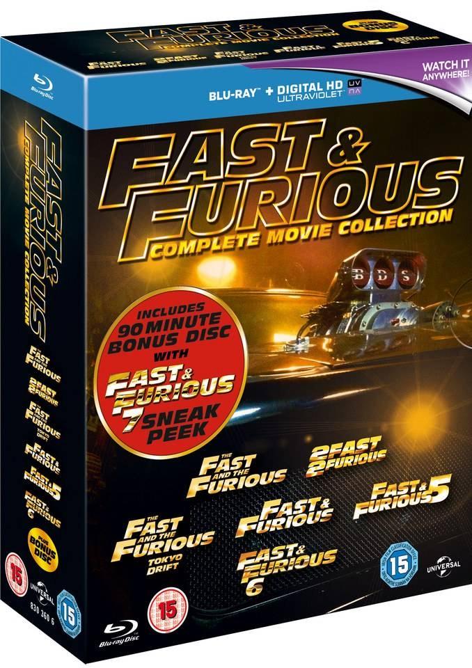 Fast & Furious 1-6 Box Set (Blu-ray) - £5.20 Delivered @ Rarewaves