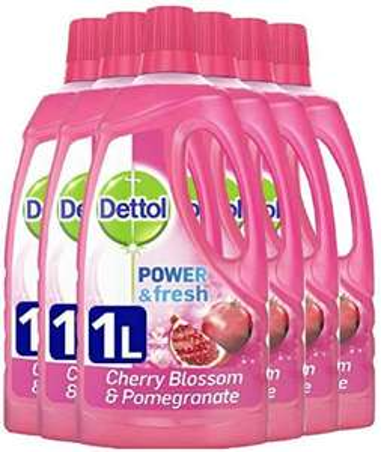Dettol Power and Fresh Multi Purpose Cleaner 1L x 6 - Cherry Blossom/Pomegranate Liquid £7.44 (£4.49 p&p np) / £5.95 s&s @ Amazon