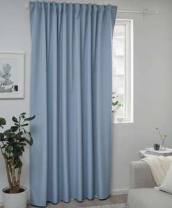 BENGTA Block-out curtain, blue210x250 cm - £10 @ IKEA (Instore or +£4 Delivery)