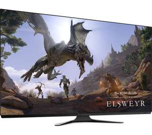 """ALIENWARE AW5520QF 4K Ultra HD 55"""" OLED Gaming Monitor - Lunar White - £1,784.97 @ Box"""