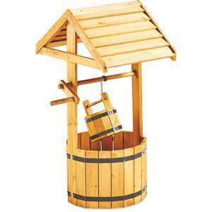 Natural or Grey Wishing Well Wooden Planter (FSC certified) - £24.99 Instore or £28.94 delivered @ Aldi