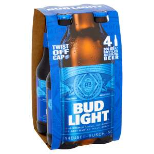 4 X 300ml Bud Light Lager Beer for £2.49 in Home Bargains Willenhall