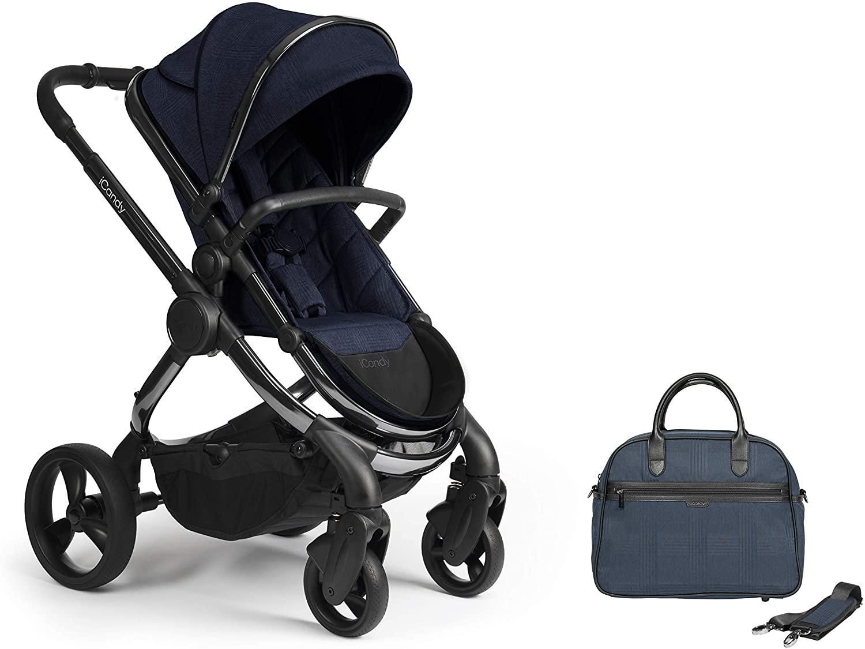 iCandy Peach Phantom Navy Check Pushchair & Carrycot Set with Bag, IC2383 - £812.96 @ Amazon