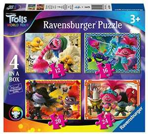 Trolls world tour 4 in a box jigsaw puzzle £3.02 at Prime / £7.51 Non Prime Amazon