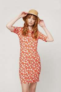 Dorothy Perkins 25% off everything - Red Floral Bodycon Dress £18 + £3.99 delivery
