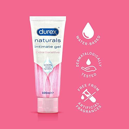 Durex Naturals Extra Sensitive Water Based Lube Intimate Gel, 100 ml - £9.50 Prime / +£4.49 non Prime @ Amazon