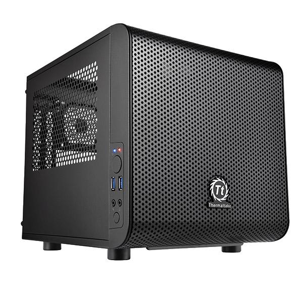 Thermaltake Core V1 Mini-ITX Cube PC Case Front 20cm Fan 2 x USB3 Side Window - £47.47 delivered @ Ebuyer