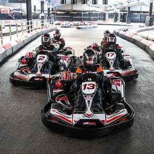 50 Lap Indoor Karting Race for TWO - 30 locations now £36.75 using code (£18.38 per person) @ BuyaGift