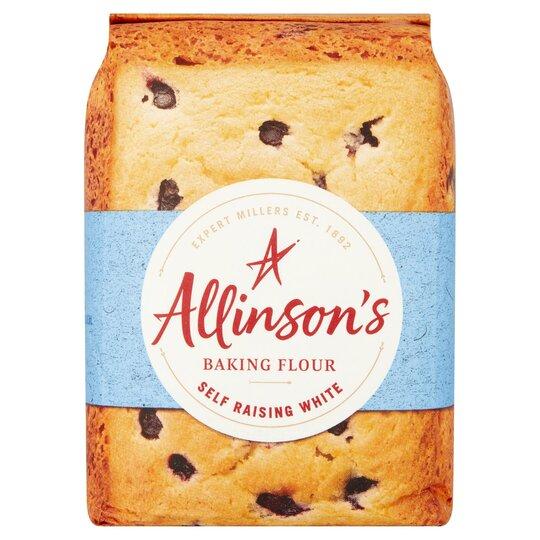 Allinson's Self Raising White Baking or Plain White Flour 1Kg £0.20 Tesco