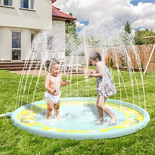 "Anpro Sprinkler pad & Splash Play Mat 68"" Sprinkler for Kids - £11.89 Prime / +£4.49 non Prime Sold by Karlodeng-tech & Fulfilled by Amazon"