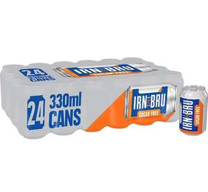 IRN-BRU Sugar Free Fizzy Drink Cans, 330ml, (Pack of 24) £7 Amazon Prime / £11.49 Non Prime