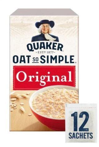 Quaker oat so simple 12 x 27g sachet RTC £1.51 instore at Tesco National offer