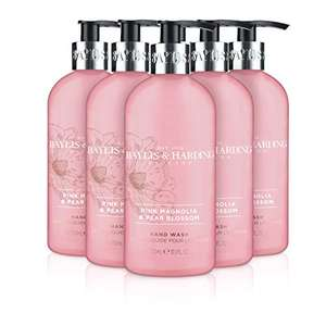 Baylis & Harding Pink Magnolia & Pear Blossom Hand Wash, 300 ml, Pack of 6 £5.88 / £5.59 S&S (Prime) + £4.49 (non Prime) at Amazon