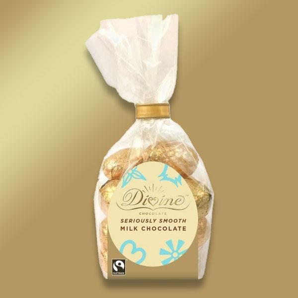 1 x Divine Fairtrade Milk Chocolate Mini Eggs 152g Giftbag or 1 x Divine Fairtrade Milk Chocolate Hearts - £1 delivered @ Yankee Bundles
