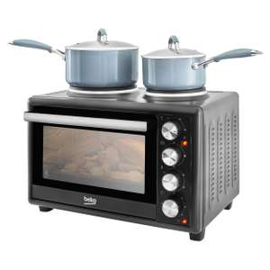 Mini oven with hot plate - Black £74.25 delivered, using code @ Beko