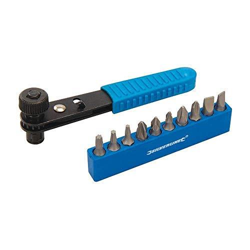 Silverline 404706 11pce Offset Ratchet Screwdriver Set 11 Piece, Black/Blue - £2.69 Prime / +£4.49 Non Prime @ Amazon