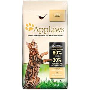 Applaws Complete Natural and Grain Free Dry Adult Cat Food, Chicken, 2 kg Bag £6.93 prime (+£4.49 Non-Prime) £6.24 S&S@ Amazon