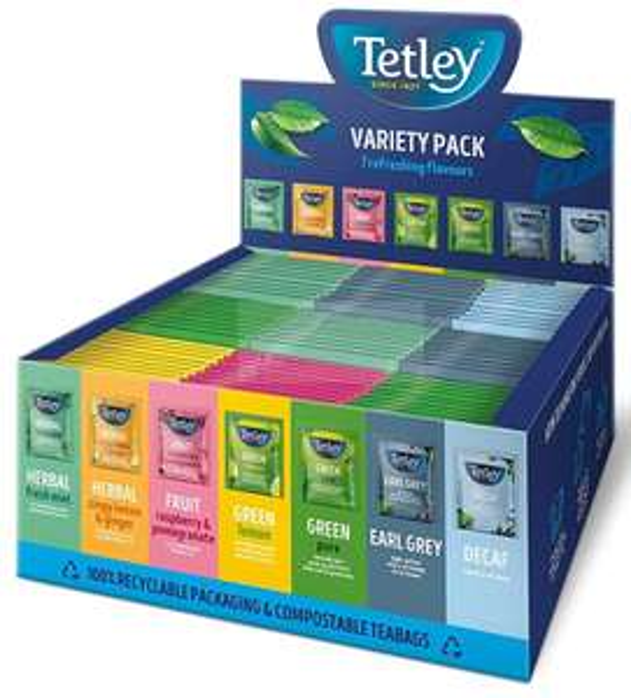 Tetley Indulgence Teabags Variety Box / String & Tag Envelopes / 7 Mixed Flavours / 90 Bags (1 Box) £5.75 prime / £10.24 non prime @ Amazon