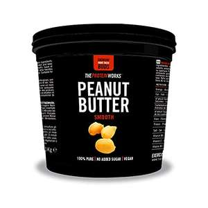THE PROTEIN WORKS Peanut Butter, 100% Natural Roasted Peanut Butter, No Added Sugar - 1KG - Smooth £3.96 Prime (+£4.49 Non-Prime) @ Amazon