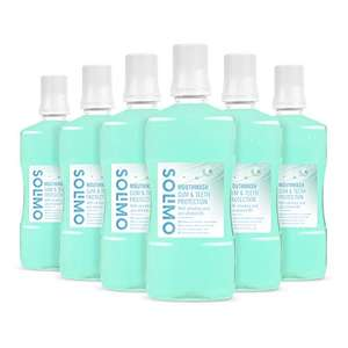 Solimo - Mouthwash Gums & Teeth protection, 6x500ml £6.31 prime / £10.80 non prime @ Amazon