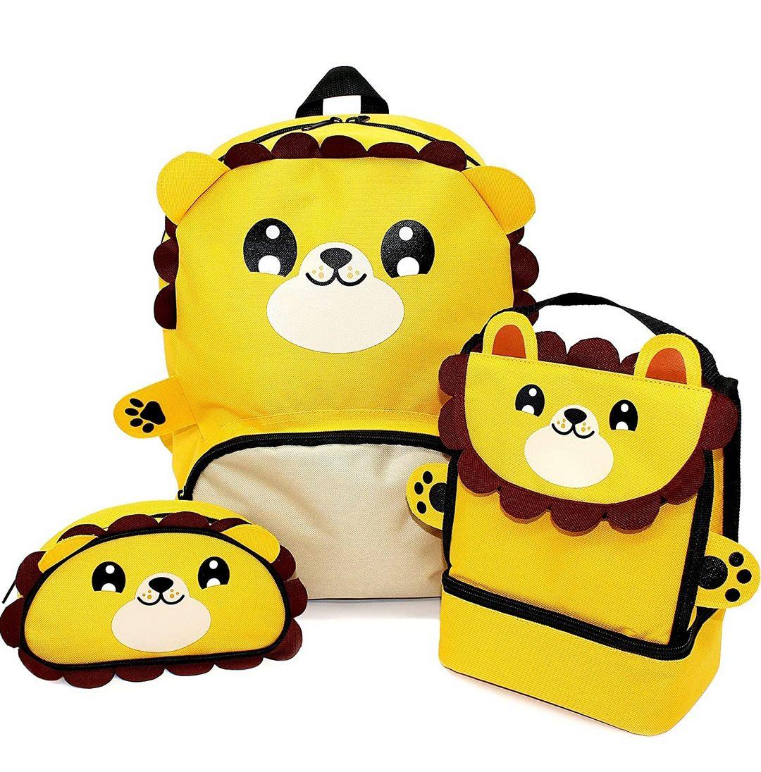 Childrens Animal School Nursery Backpack, Lunch Bag & Pencil Case Set £13.13 prime (£4.49 non prime) @ Amazon
