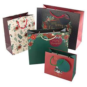 Hallmark Christmas Gift Bag pack - 4 Bags - £2.17 Prime / +£4.49 non Prime @ Amazon