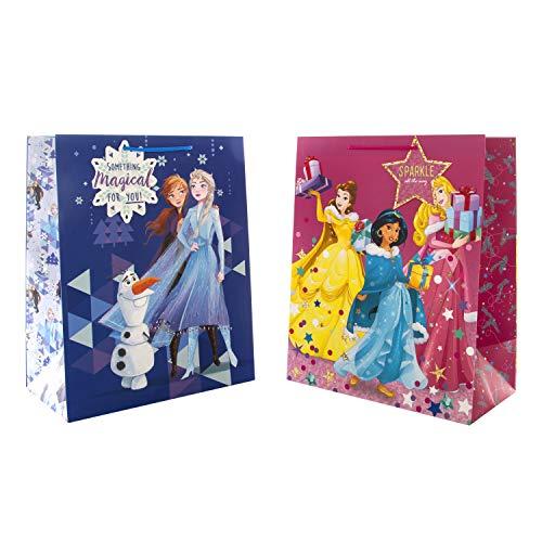 Large Hallmark Disney Christmas Gift Bags x2 - £3.57 Prime / +£4.49 non Prime @ Amazon
