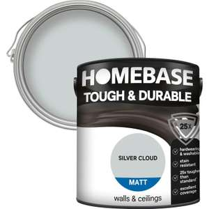 Homebase Tough and Durable Coloured Emulsion, 2.5L - 1 for £16 / 2 for £26 / 3 for £36 + free Click and Collect @ Homebase