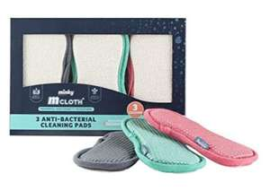 Minky M Cloth Anti-Bacterial Cleaning Pad 3 Pack - £4.58 Prime / +£4.49 non Prime @ Amazon